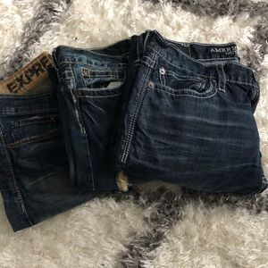 Lot of 3 - lucky brand , AE, and Express